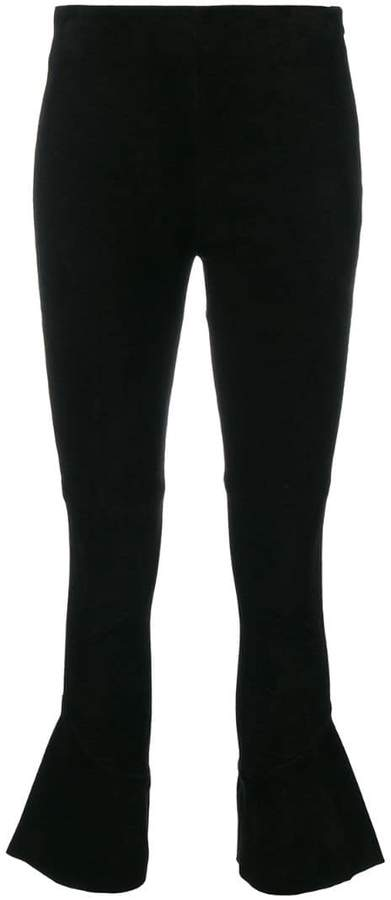 IRO flared cropped trousers
