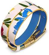 Tory Burch Reversible Floral Print Leather Wrap Bracelet