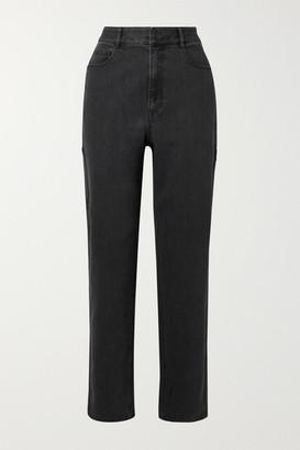 Tibi Carpenter High-rise Jeans - Charcoal