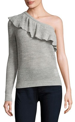Rebecca Taylor One-Shoulder Ruffle Sweater