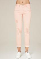 Bebe Raw Hem Heartbreaker Jeans
