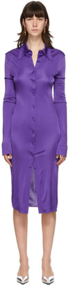 Kwaidan Editions Purple Jersey Shirt Dress