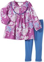Masala Maya Indian Floral 2 Piece Set (Baby) - Purple-12-18 Months