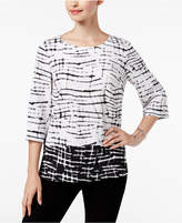 JM Collection Textured Tunic, Created for Macy's