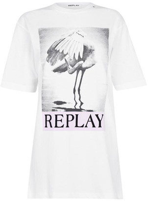 Replay T-Shirt Oversize With Photographic Print