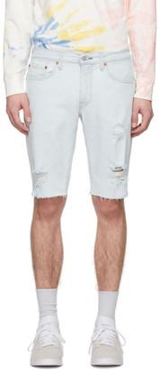 Levi's Levis Blue Denim 511 Slim Cut-Off Shorts