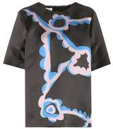 Marni Printed satin top