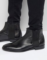 Aldo Coppe Leather Chelsea Boots