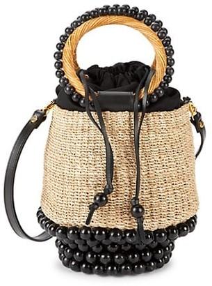 Aranaz Pulpo Mini Woven Bucket Bag