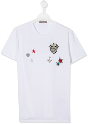 Ermanno Scervino TEEN embroidered icon T-shirt