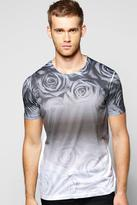 Boohoo Faded Floral Sublimation Print T Shirt