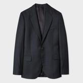 Paul Smith Men's Classic-Fit Charcoal Grey Subtle-Check Wool Blazer
