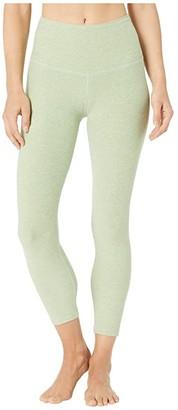 Beyond Yoga Spacedye High Waisted Capri Leggings (Black/White Spacedye) Women's Casual Pants