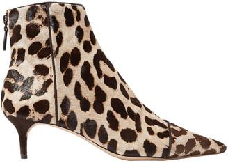 Alexandre Birman Kittie Leopard-print Calf Hair Ankle Boots