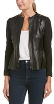 Rebecca Taylor Leather Front Jacket.