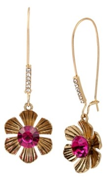 Betsey Johnson Flower Long Drop Earrings