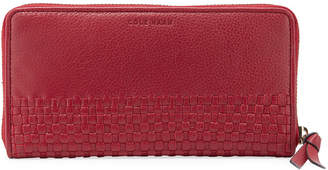 Cole Haan Bethany Large Woven Leather Zip Wallet