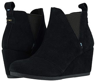 Toms Kelsey (Black Suede) Women's Shoes
