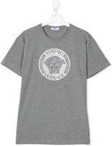 Young Versace - Medusa logo print T-shirt - kids - Cotton - 14 yrs