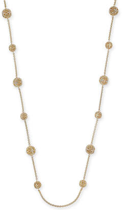 """Charter Club Crystal Filigree Long Strand Gold-Tone Necklace, 42"""" + 2"""" extender"""