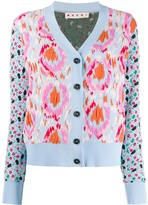Marni abstract floral pattern cardigan