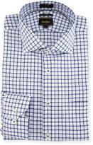 Neiman Marcus Trim-Fit Regular-Finish Dobby Dress Shirt, Blue