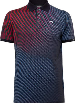 Kjus Golf Spot Slim-Fit Printed Stretch-Jersey Golf Polo Shirt