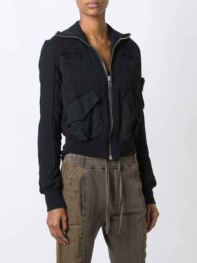 Haider Ackermann multi-pocket bomber jacket