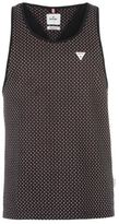 Soviet Mens All Over Print Dot Vest Tank Top Sleeveless Crew Neck Cotton Pattern
