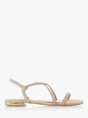 Dune Nicci Embellished Barely There Strap Sandals, Blush