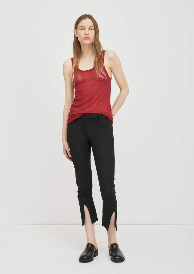Ann Demeulemeester Front Slit Trousers Lightlane Black + Nanette Black