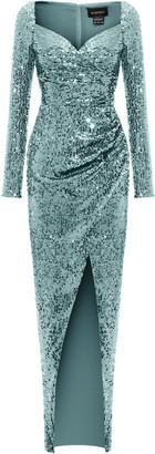 Rasario Draped Sequined Maxi Dress