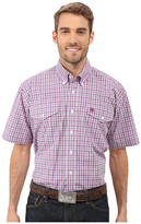 Cinch Short Sleeve Plain Weave Plaid Double