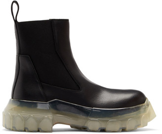 Rick Owens Black and Transparent Bozo Tractor Beetle Boots