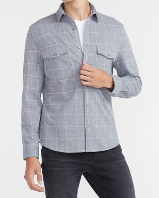 Express Slim Plaid Supersoft Flannel