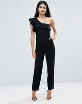 Forever Unique Frill Shoulder Jumpsuit