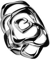 Babette Wasserman Medium Silver Rose Ring - Size N