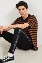 BDG X Urban Renewal Geo Print Side Stripe Black Skinny Jean
