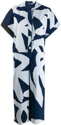 Gianfranco Ferre Pre-Owned 1980's lettering print cropped playsuit