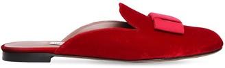 Tabitha Simmons 10mm Masha Bow Velvet Mules
