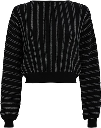Intermix Jessa Striped Bateau Neck Sweater