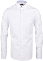 Paul & Shark Plain White Long Sleeve Slim Fit Shirt