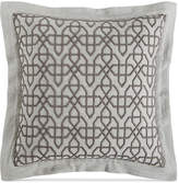 "Hotel Collection Embroidered Fretwork 20"" Square Decorative Pillow, Created for Macy's Bedding"