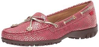 Marc Joseph New York Womens Golf Genuine Leather Made in Brazil Cypress Hill Performance Loafer Moccasin