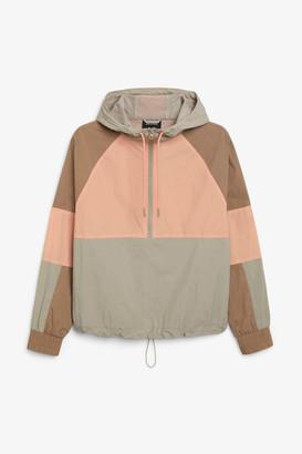 Monki Hooded windbreaker jacket