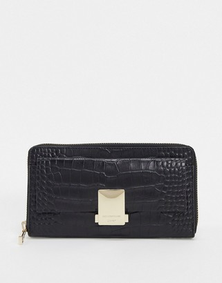Paul Costelloe Leather Ladies' wallet With Clasp In Black