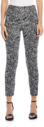 Karen Kane Piper Snakeskin Jacquard Skinny Ankle Pants