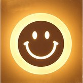 Brother quan 10W LED Modern PMMA Smile Face Wall Light