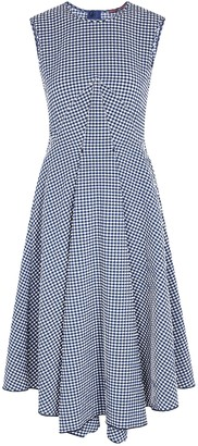 High Verity checked seersucker midi dress