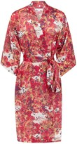 Genevie Blackbirds Silk Kimono Robe